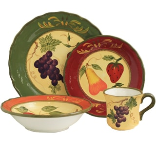 Harvest Collection Hand-painted 16-Piece Dinner Set - Serving for 4