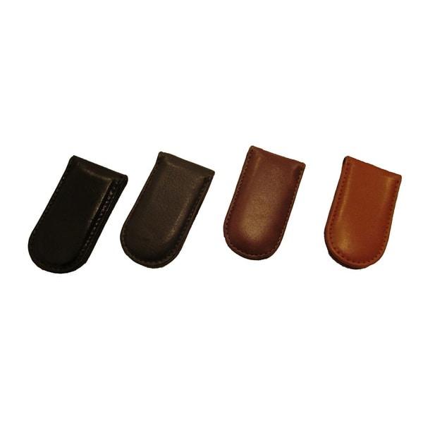 Genuine Leather Slim Fit Front Pocket Money Clip