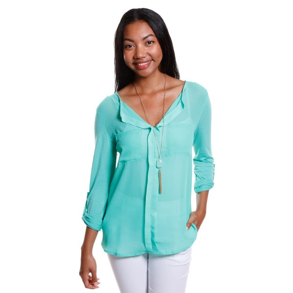 Hadari Women's Two Tone Blouse
