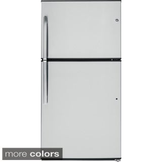 GE Energy Star 21.2 Cubic Feet Stainless Top-freezer Refrigerator