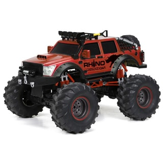 Bright 1:12 R/C 9.6V True 4x4 Function 2.4GHz Red Rhino Remote Control Truck