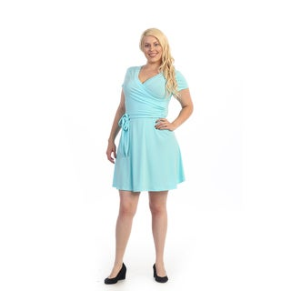 Women's Plus Size Aqua Flare Dress