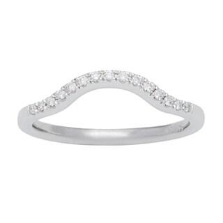 14k White Gold 1/10ct TDW Diamond Wedding Band (G-H, SI1-SI2)