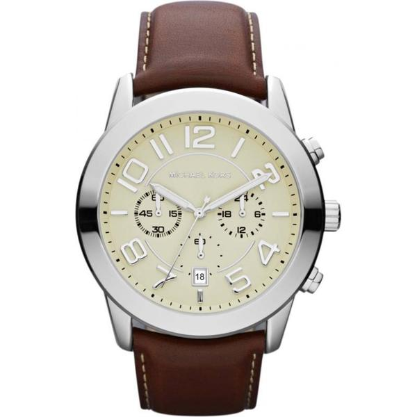 Michael Kors MK8292 Men's Chronograph Mercer Mahogany Leather Strap Watch