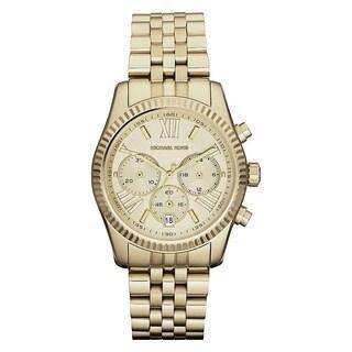 Michael Kors MK5556 Women's Chronograph Lexington Gold-Tone Stainless Steel Bracelet Watch