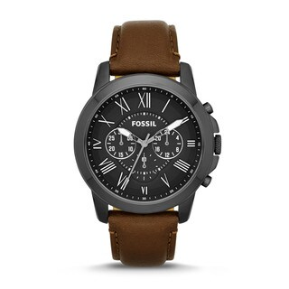 Fossil Men's FS4885 Grant Chronograph Brown Leather Watch