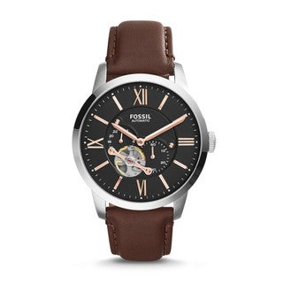 Fossil Men's ME3061 Townsman Automatic Leather Brown Watch