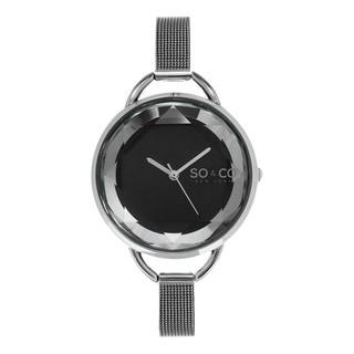 SO&CO New York Women's SoHo Quartz Stainless Steel Mesh Bracelet Watch