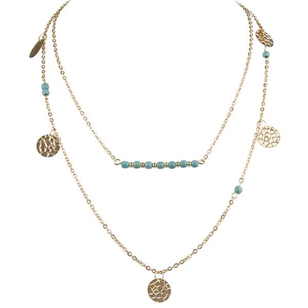 Bohemian Turquoise Layered Neckalce