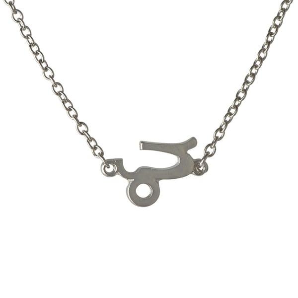 Zinc Alloy Silvertone Zodiac Charm Necklace