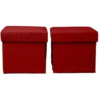 Vanderbilt 2-Piece Foldable with Two Tray Tops Storage Ottoman/Table and Bench Set