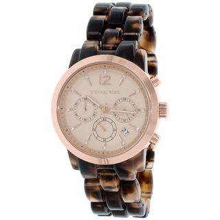 Michael Kors Women's MK6199 'Audrina' Chronograph Crystal Tortoise Plastic Watch