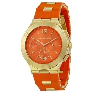 Michael Kors Women's MK6172 'Wyatt' Chronograph Orange Silicone Watch