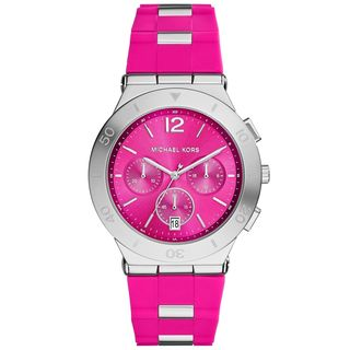 Michael Kors Women's MK6170 'Wyatt' Chronograph Pink Silicone Watch
