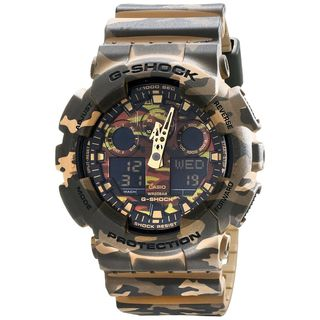 Casio Men's GA-100CM-5ACR 'G-Shock' Chronograph Camouflage Resin Watch