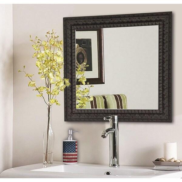 American Made Rayne Dark Embellished Vanity WallMirror - Dark Mahogany 15644682