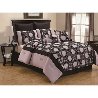 Ambreena Flocking 8-piece Comforter Set