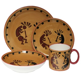Southwestern Collection Hand-painted 16-piece dinner set