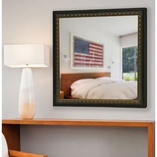 American Made Rayne Traditional Cameo Bronze Wall Mirror