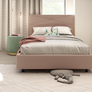 Amisco Diamond Metal Upholstered bed