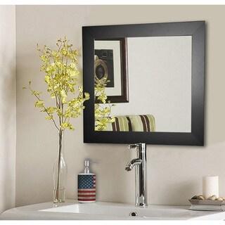 American Made Rayne Black Satin Wide Wall Mirror