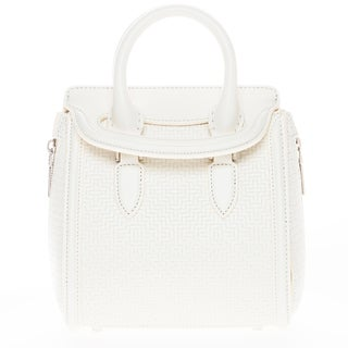Alexander McQueen Mini Woven Leather Heroine Bag