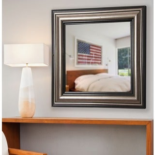 American Made Rayne Antique Silver Wall Mirror