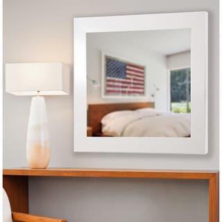 American Made Rayne Glossy White Wall Mirror