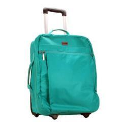 Hadaki by Kalencom Plane Hopping 18-inch Viridian Green Carry On Upright Suitcase