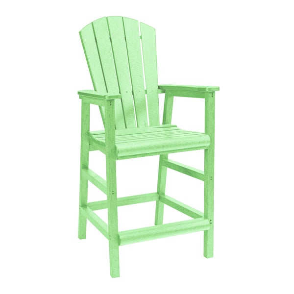 Generations Lime Green Dining Adirondack Style Pub Arm Chair