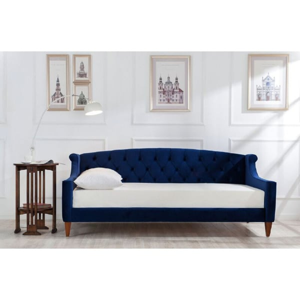 Silver Orchid Heston Upholstered Sofa Bed