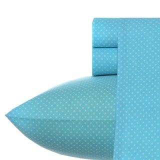 Betsey Johnson BJ Dot Sheet Set in Betsey Blue