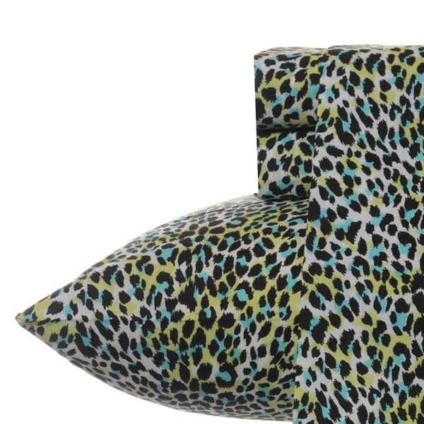 Betsey Johnson Multi Leopard Sheet Set