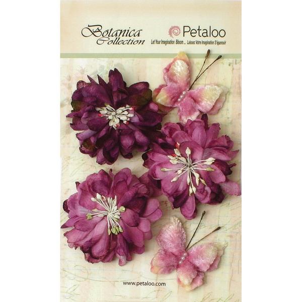 Botanica Mums & Butterflies 2in To 2.5in 5/Pkg Lavender/Purple