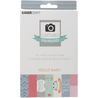 Captured Moments Double Sided Cards 6inX4in 30/Pkg Hello Baby