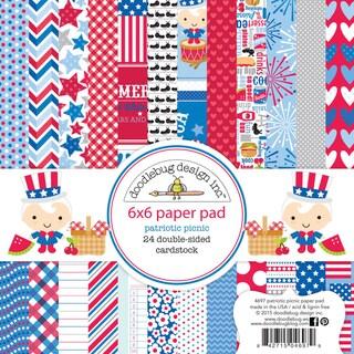 Doodlebug Paper Pad 6inX6in 24/Pkg Patriotic Picnic