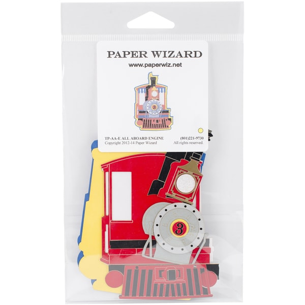 Paper Wizard Die Cut All Aboard Engine*