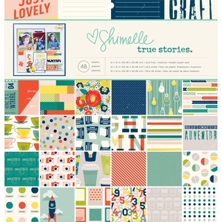 American Crafts Paper Pad 12inX12in 48/Pkg Shimelle True Stories