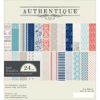 Authentique Bundle Cardstock Pad 6inX6in 24/Pkg Seaside