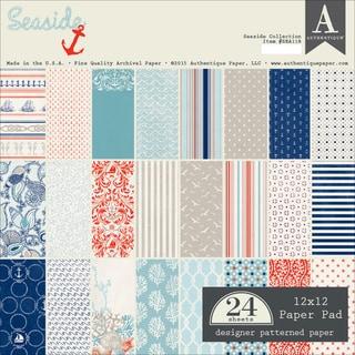 Authentique Paper Pad 12inX12in 24/Pkg Seaside