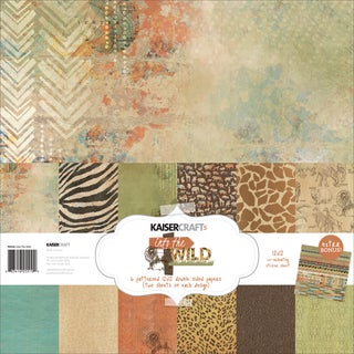 Kaisercraft Paper Pack 12inX12in 12/Pkg Into The Wild
