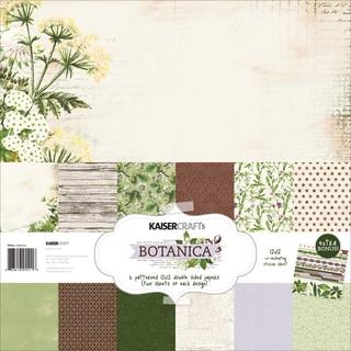Kaisercraft Paper Pack 12inX12in 12/Pkg Botanica