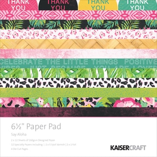 Kaisercraft Paper Pad 6.5inX6.5in 40/Pkg Say Aloha
