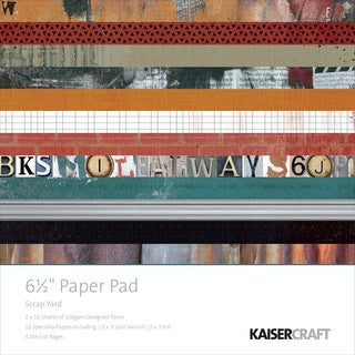 Kaisercraft Paper Pad 6.5inX6.5in 40/Pkg Scrap Yard