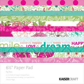 Kaisercraft Paper Pad 6.5inX6.5in 40/Pkg Fly Free