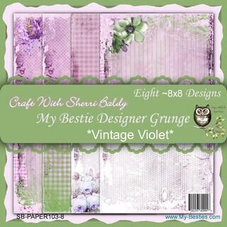 My Besties 8inX8in Single Sided Paper 8 Sheets/Pkg Vintage Violet