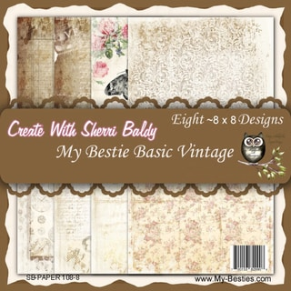 My Besties 8inX8in Single Sided Paper 8 Sheets/Pkg Basic Vintage