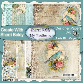 My Besties 8inX8in Single Sided Paper 8 Sheets/Pkg Paris Bird Cage