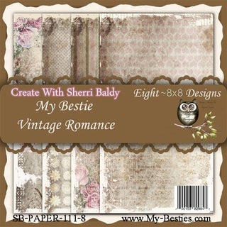 My Besties 8inX8in Single Sided Paper 8 Sheets/Pkg Vintage Romance