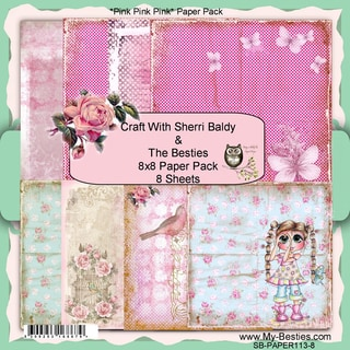 My Besties 8inX8in Single Sided Paper 8 Sheets/Pkg Pink Pink Pink